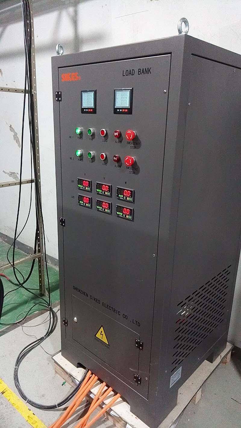 Сцена тестирования установки банка резистивно-индуктивной нагрузки