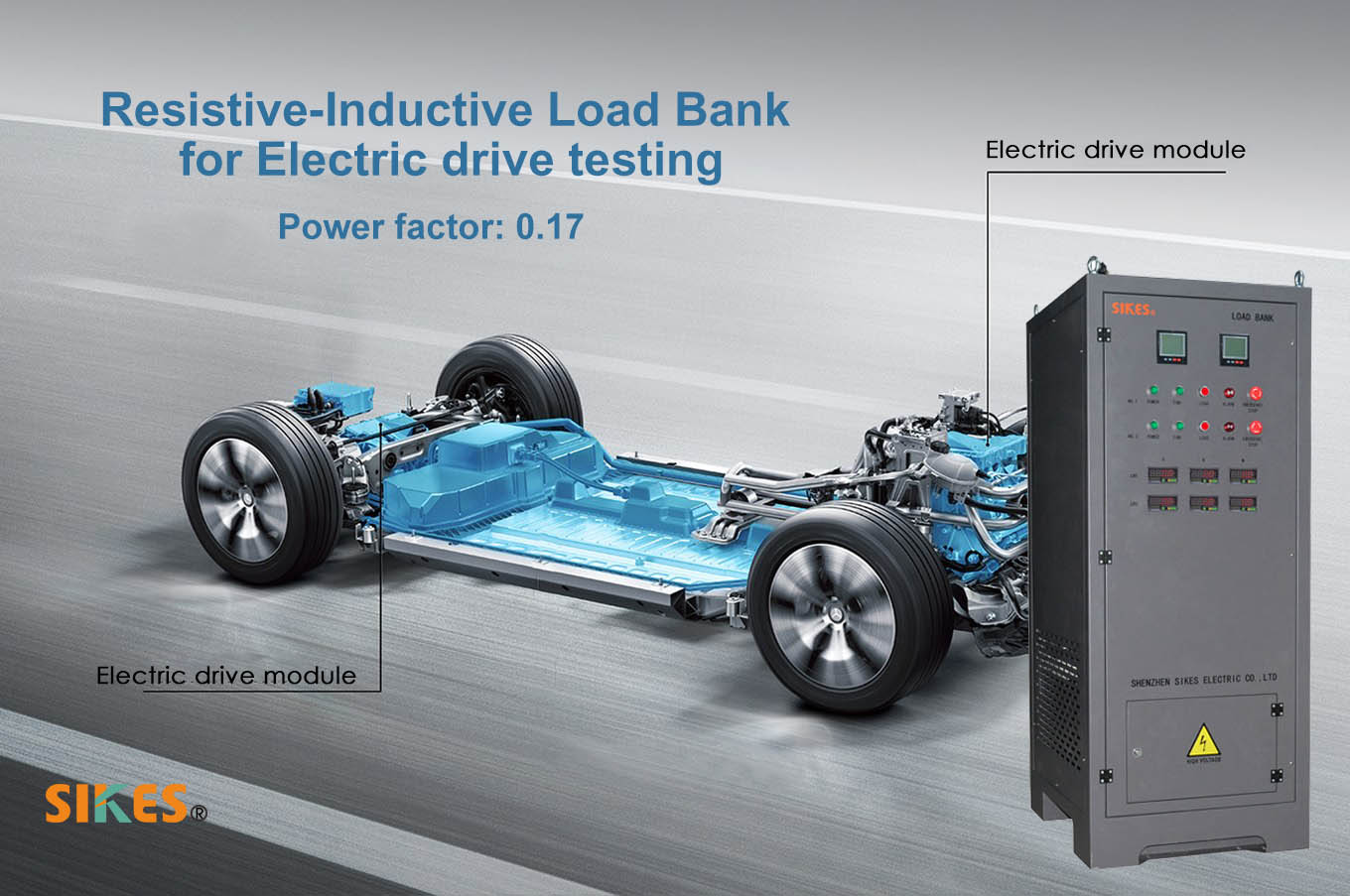 Resistive Reactive Load Bank for electric drive testing