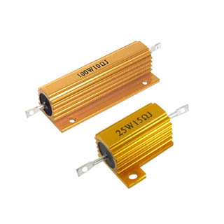 Golden Aluminum Housed resistor for led (2)