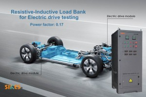 Resistive-Inductive Load Bank for testing various performance parameters of electric vehicle motor drives