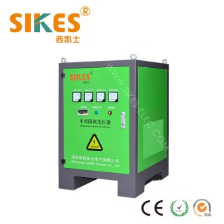 Power Isolation transformer Single phase 60kva with steel enclosure